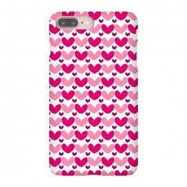 iPhone 8/7 plus  Pink Brushed Hearts by Kimrhi Studios