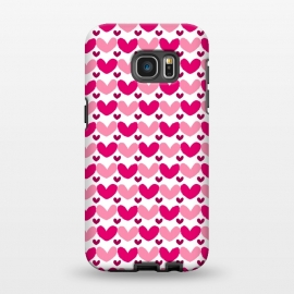 Galaxy S7 EDGE  Pink Brushed Hearts by Kimrhi Studios