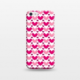 iPhone 5C  Pink Brushed Hearts by Kimrhi Studios