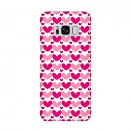 Pink Brushed Hearts by Rhiannon Pettie (love,hearts,pattern,pink)