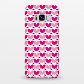 Galaxy S8+  Pink Brushed Hearts by Kimrhi Studios (love,hearts,pattern,pink)