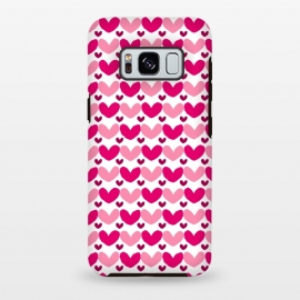 Galaxy S8 plus  Pink Brushed Hearts by  (love,hearts,pattern,pink)