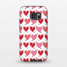 Galaxy S7  Peachy Arrowhearts by Kimrhi Studios