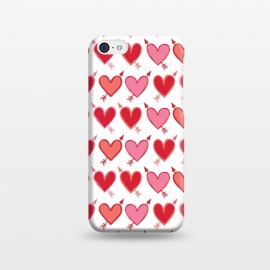iPhone 5C  Peachy Arrowhearts by Kimrhi Studios
