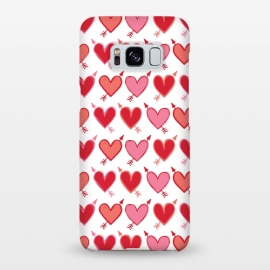 Galaxy S8+  Peachy Arrowhearts by Kimrhi Studios (arrow,love,valentines,loveheart)
