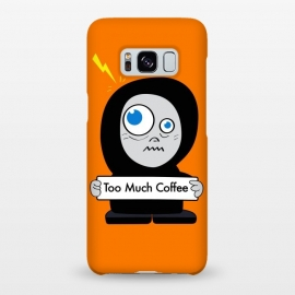 Galaxy S8+  Funny Cartoon Character Too Much Coffee by Boriana Giormova