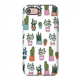 iPhone 8/7  cacti in pots 2 by Laura Grant (cacti,cactus,house plant,plant,plant pot,crazy plant lady)