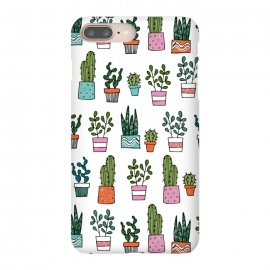 iPhone 7 plus SlimFit cacti in pots 2 by Laura Grant (cacti,cactus,house plant,plant,plant pot,crazy plant lady)