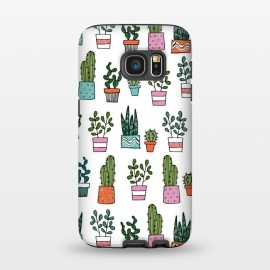 Galaxy S7  cacti in pots 2 by Laura Grant