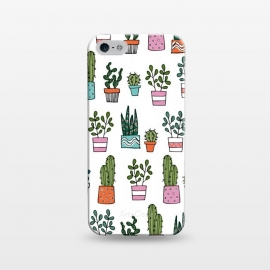 iPhone 5/5E/5s  cacti in pots 2 by Laura Grant (cacti,cactus,house plant,plant,plant pot,crazy plant lady)