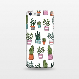 iPhone 5C  cacti in pots 2 by Laura Grant (cacti,cactus,house plant,plant,plant pot,crazy plant lady)