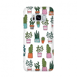 cacti in pots 2 by Laura Grant (cacti,cactus,house plant,plant,plant pot,crazy plant lady)