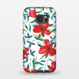 Galaxy S7  Red Blossom by Uma Prabhakar Gokhale