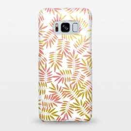 Galaxy S8+  Rosa by Uma Prabhakar Gokhale (graphic, pattern, leaves, nature, rose, rose gold, gold, golden, botanical, pink)