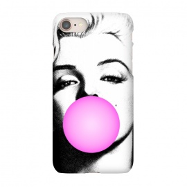 iPhone 7  Marilyn Chewing Gum Bubble by Mitxel Gonzalez