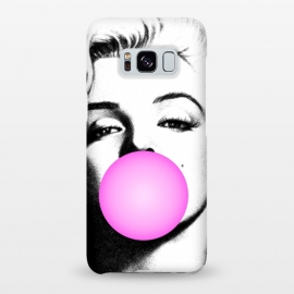 Galaxy S8+  Marilyn Chewing Gum Bubble by Mitxel Gonzalez (marilyn,art pop,art,trending,monroe,actress,movie star)