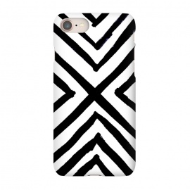 iPhone 8/7 SlimFit Angled Stripes by Caitlin Workman (Minimal, Modern,Black & White,Boho,Painting,Edgy, bold, organic)