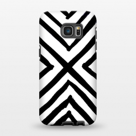 Galaxy S7 EDGE  Angled Stripes by Caitlin Workman