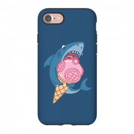 iPhone 8/7 StrongFit SHARK AND ICE CREAM by Alexander Medvedev (shark,ice crem,diver,sea)