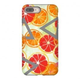 Citrus Play by allgirls (citrus,fruit,orange,grapefruit,nature,pattern, triangle, seamless, design ,fruits,graphic,fresh,geometric,colorful,bright,food,design,colors,pretty,cool gift)