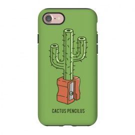 iPhone 8/7 StrongFit CACTUS PENCILUS by Alexander Medvedev (pencil ,sharpener ,cactus,gotoup)