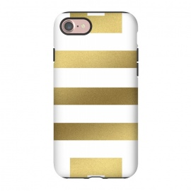 iPhone 8/7  Gold Stripes by Caitlin Workman (Greek, Gold, Metallic, Stripes, Bold, minimal, modern, bold, fashion, style)