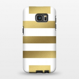 Galaxy S7 EDGE  Gold Stripes by Caitlin Workman