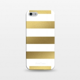 iPhone 5/5E/5s  Gold Stripes by Caitlin Workman