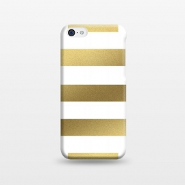 iPhone 5C  Gold Stripes by Caitlin Workman