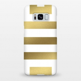 Galaxy S8+  Gold Stripes by Caitlin Workman