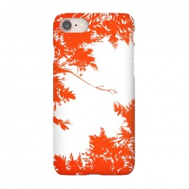 iPhone 8/7 SlimFit Night's Sky Red by Caitlin Workman (Forest, red, nature, leaves, style, fashion, pattern, night, sky)