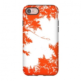 iPhone 8/7  Night's Sky Red by Caitlin Workman (Forest, red, nature, leaves, style, fashion, pattern, night, sky)