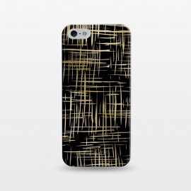 iPhone 5/5E/5s  Crosshatch Black by Caitlin Workman