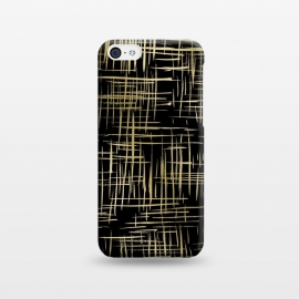 iPhone 5C  Crosshatch Black by Caitlin Workman