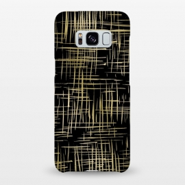 Galaxy S8+  Crosshatch Black by Caitlin Workman