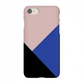 iPhone 8/7 SlimFit Color Block  by Caitlin Workman (Color block, Pink, Nude, Black, Blue, Fashion, Style, color, pattern, minimal, modern, bold)