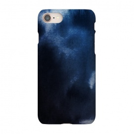 iPhone 8/7 SlimFit Watercolor Blue by Caitlin Workman (Watercolor, Ombre, Fashion, Style, pattern, painting, ocean, water)
