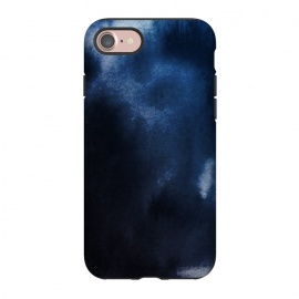iPhone 8/7  Watercolor Blue by Caitlin Workman (Watercolor, Ombre, Fashion, Style, pattern, painting, ocean, water)