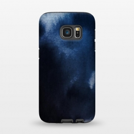 Galaxy S7  Watercolor Blue by Caitlin Workman