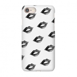 iPhone 8/7  Lips Black by Caitlin Workman