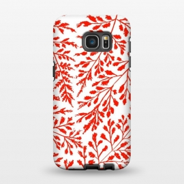 Galaxy S7 EDGE  Foliage Red by Caitlin Workman