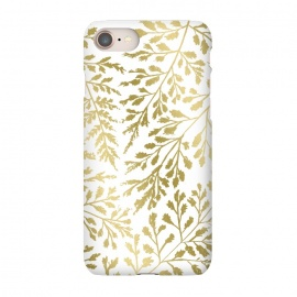 iPhone 8/7 SlimFit Foliage Gold by Caitlin Workman (Foliage,ferns, leaves, nature, fold, metallic, style, fashion)