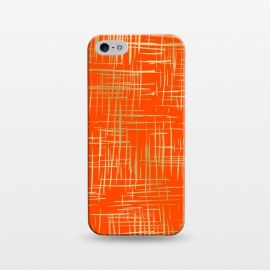 iPhone 5/5E/5s  Crosshatch Red by Caitlin Workman