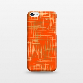 iPhone 5C  Crosshatch Red by Caitlin Workman