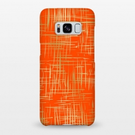 Galaxy S8+  Crosshatch Red by Caitlin Workman
