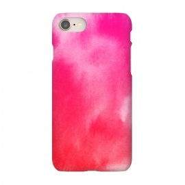 iPhone 8/7 SlimFit Watercolor Pink by Caitlin Workman (Pink, Red, Watercolor, painting, ombre, pattern, artist, fashion,style)
