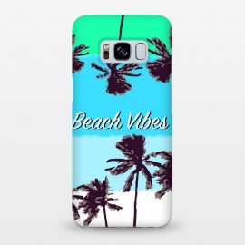 Beach Vibes blue by MUKTA LATA BARUA (beach vibes,palm trees,blue,green,summer)