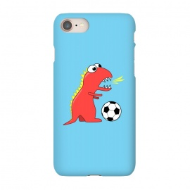 iPhone 8/7 SlimFit Funny Cartoon Dinosaur Soccer Player by Boriana Giormova (soccer,football,soccer ball,football ball,dinosaur,dinosaurs,dino,t-rex,tyrannosaurus,tyrannosaurus rex,cute,cartoon,funny,sport,sports,soccer player)