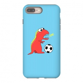Funny Cartoon Dinosaur Soccer Player by Boriana Giormova (soccer,football,soccer ball,football ball,dinosaur,dinosaurs,dino,t-rex,tyrannosaurus,tyrannosaurus rex,cute,cartoon,funny,sport,sports,soccer player)