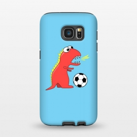 Galaxy S7  Funny Cartoon Dinosaur Soccer Player by Boriana Giormova